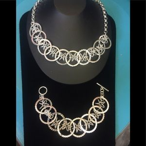 Jewelry - SALE! Silver plated necklace and bracelet set 003